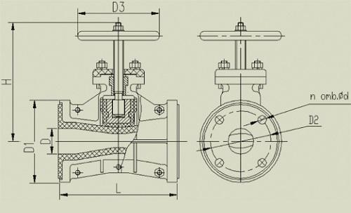 схема устройства шланговой задвижки