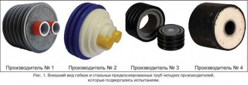Виды теплоизолированных труб