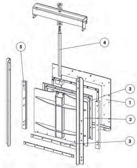 Схема устройства щитового затвора