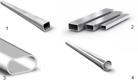 Виды сечения стальных труб