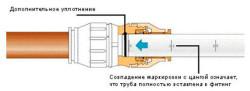 Схема соединения зажимного фитинга
