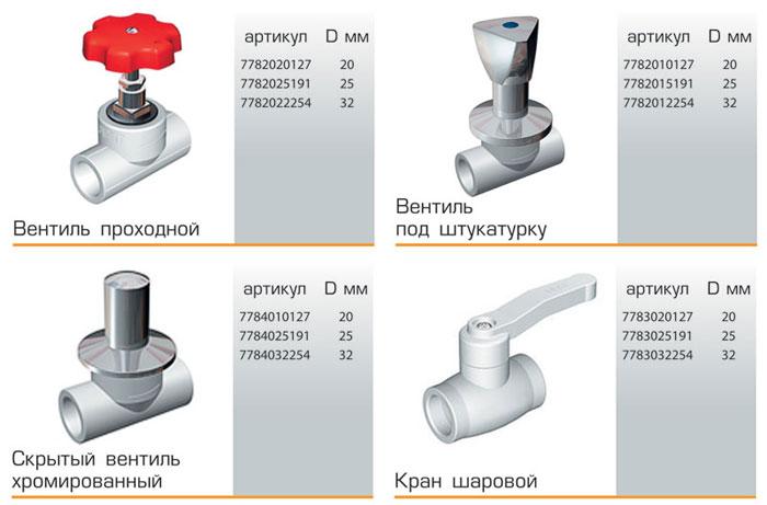 Виды кранов для полиэтиленовых труб