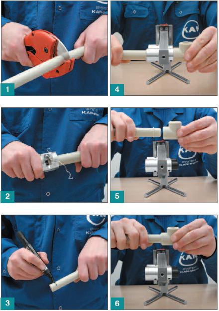 Этапы монтажа и резки полипропиленовых труб