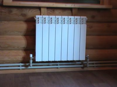 Пример двухтрубной системы отопления
