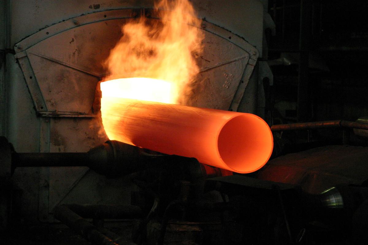 Термообработка трубы.