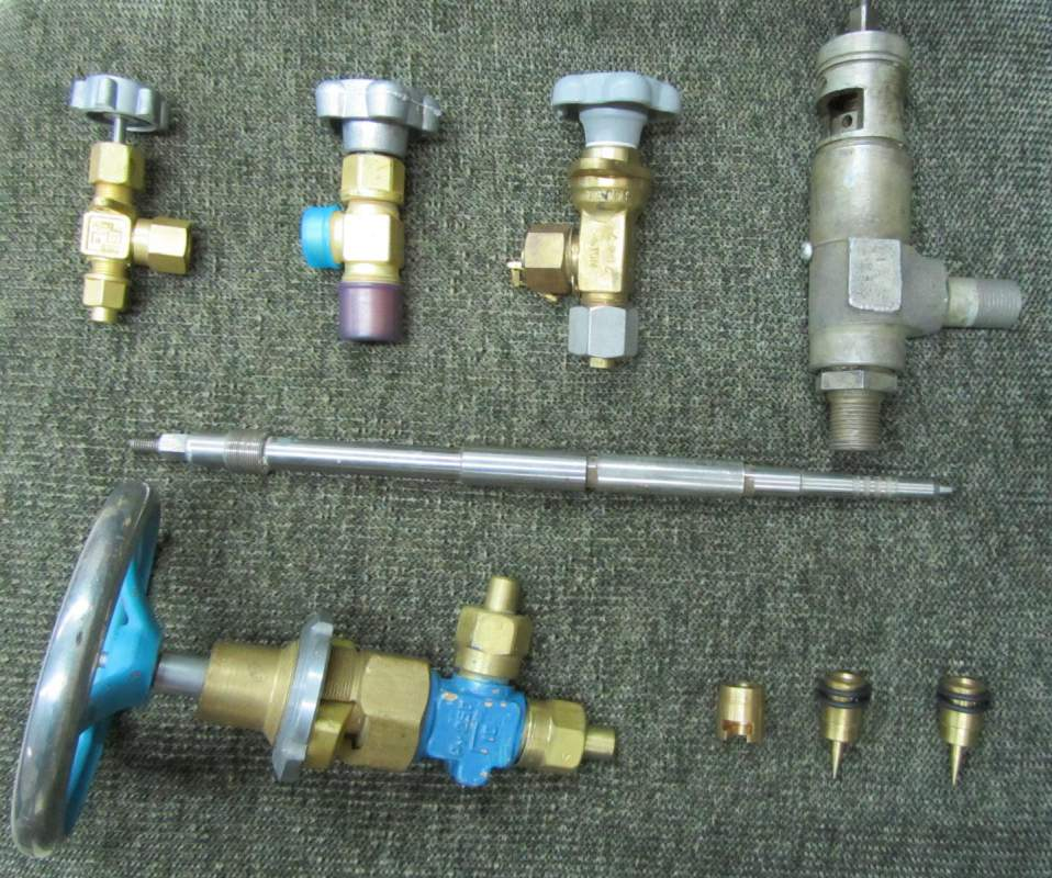 Различные виды клапанов.