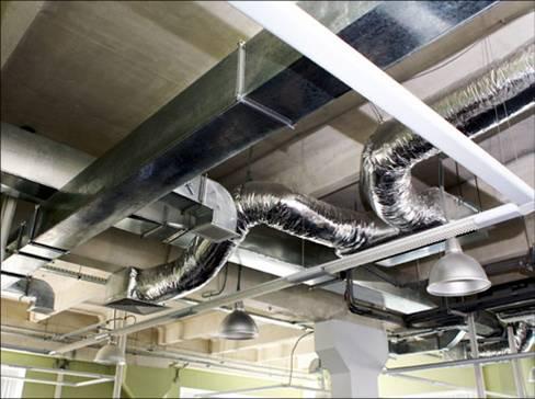 вентиляционные трубы в системе воздуховода