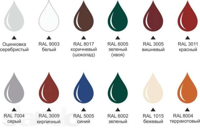 Пример цветов для окраски дымовых труб