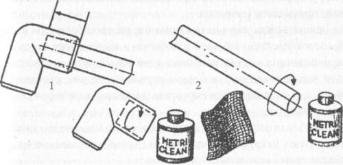 Схема склейки пластиковой трубы