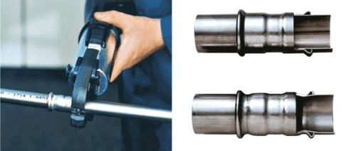 Обжим стальных труб