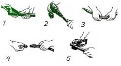 Схема процесса монтажа