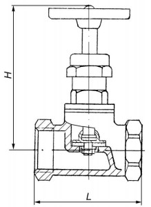 Схема муфтового вентиля