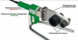 Устройство сварочного аппарата для полипропиленовых труб