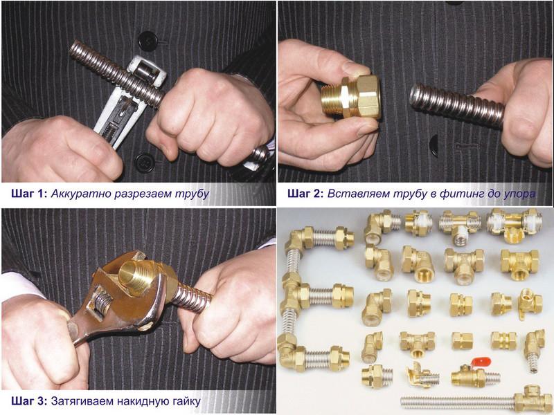 Монтаж гофрированной стальной трубы