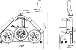 Схема профильного трубогиба