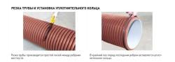Резка трубы и установка уплотнительного кольца