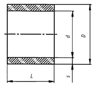 Схема формы хризотилцементных муфт