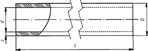 Схема хризотилцементных труб
