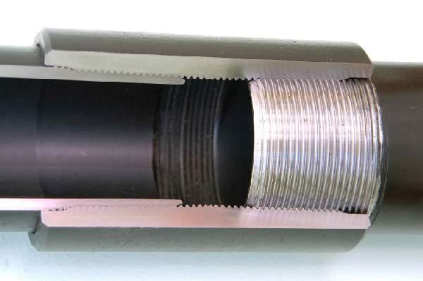 Соединение труб с резьбой