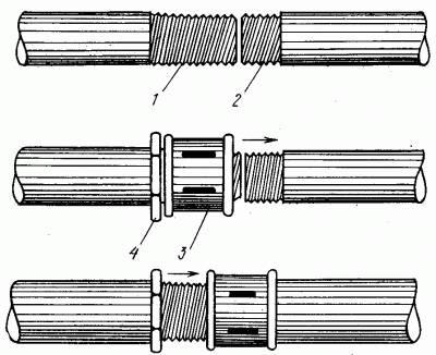 Соединение водогазопроводных труб