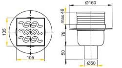 Технические параметры канализационного трапа