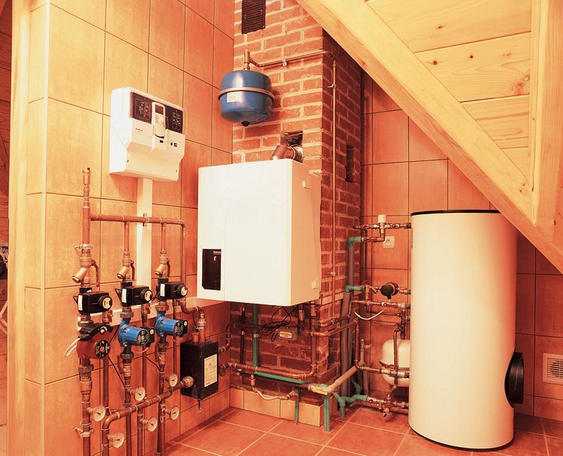Пример системы труб для газового котла в частном доме
