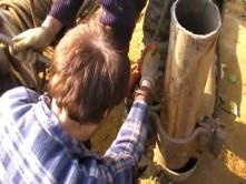 Процесс извлечения трубы