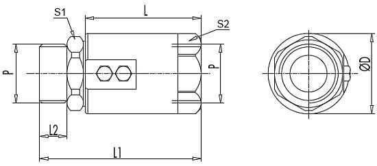 Схема поворотного соединения