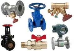 Разные виды трубопроводной арматуры