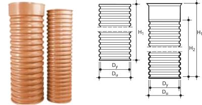 Пластиковые дренажные гофрированные трубы